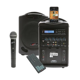 iPod Wireless Public Address System with Wireless Microphone, M16246