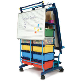 "Two Sided Teaching Easel with 19 Tubs - 30""W x 64.5""H, B20130"