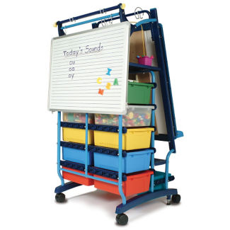 """Two Sided Teaching Easel with 19 Tubs - 30""""W x 64.5""""H, B20130"""