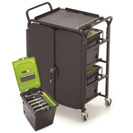 Four Tech Tub &#8482 Ten iPad Charging and Storage Tubs with Cart, E10269