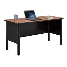 "Steel Desk Shell with Laminate Top - 72""W x 24""D, D30386"