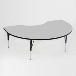 "Melamine Adjustable Height Kidney Shaped Activity Table 48"" x 72"", A10007"