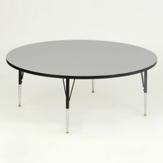 "Melamine Height Adjustable Round Activity Table 48"" Diameter x 16-25"", A10019"