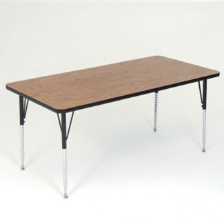 "Adjustable Height Rectangular Table 60"" x 30"", A10956"