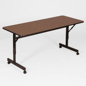 "Melamine Flip Top Table with Adjustable Height Legs 24"" x 60"", A11134"