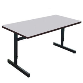 "Adjustable Height Training Table 30""D x 72""W , T11654"