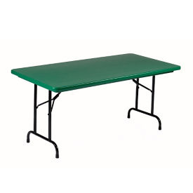 "Lightweight Plastic Folding Table - 24"" x 48"", T12027"