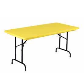 "Lightweight Plastic Folding Table - 30"" x 72"", T12029"