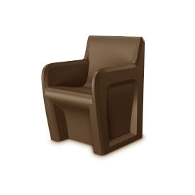 Durable Armchair with Ballast Door, E20005
