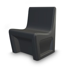 Durable Armless Chair with Ballast Door, E20003