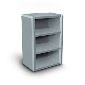 "Durable Open Cabinet with Three Shelves- 42""H, B30570"