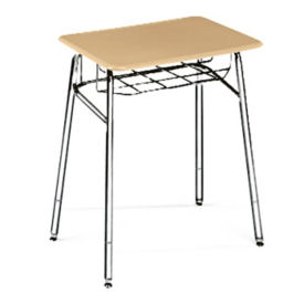 "Adjustable Height Study Top Desk with Steel Glides -  24"" to 30""H, D12023"