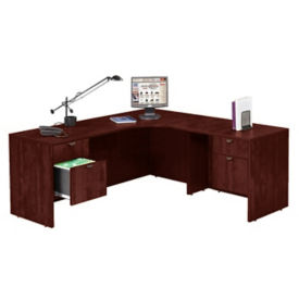 "Right Return Corner L Desk - 71""W, D35622"