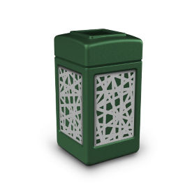 Waste Receptacle with Intermingle Design - 42 Gallon , R20313