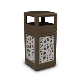 Dome Lid Waste Receptacle with Intermingle Design - 42 Gallon, R20317