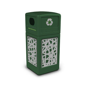 Decal Recycling Receptacle with Intermingle Design - 42 Gallon, R20325