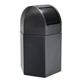 45 Gallon Dome Lid Hexagonal Trash Can, R20279