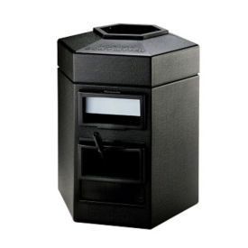 35 Gallon Trash Can with Windshield Wash Station, R20280