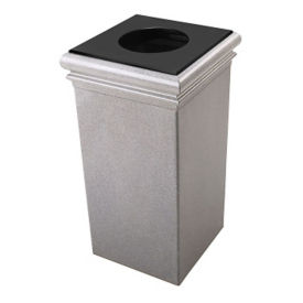 Square Waste Receptacle - 30 Gallon Capacity, V21991