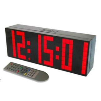 """Large Display LED Clock with 3"""" Numerals, V21727"""