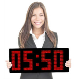 """Magnified LED Clock with 8"""" Numerals, V21734"""