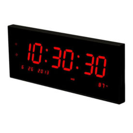 Multi-Alarm LED Clock with Temp and Calendar, V21735