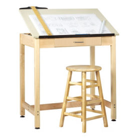 "36""H Drafting Table with Large Drawer, A11168"