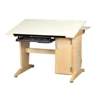"30""H Drafting Table with CPU Storage, A11179"