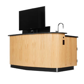 Instructor's Desk with Monitor Mount and Sink, D30275