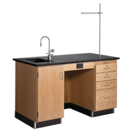 5' Instructor's Desk Left Sink, L70029