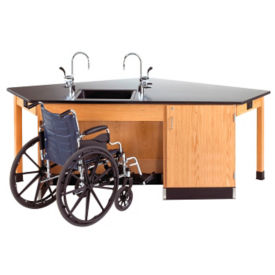 ADA Workstation with Cabinet, L70043