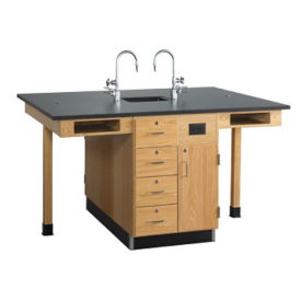Four Person Lab Center with Sink, L70047