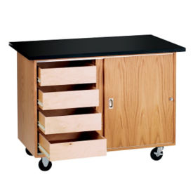 Mobile Lab Demonstration Table with Drawers, L70074