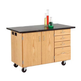 Mobile Lab Demonstration Table with Flat ChemGuard Top, L70078