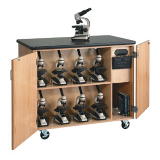 Mobile Lab Microscope Charging Cabinet, L70084