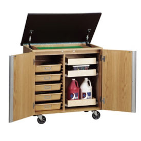 Mobile Lab Storage Cabinet with Dry Erase Top, L70086