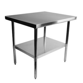 "Stainless Steel Table - 36""W x 30""D, T10088"