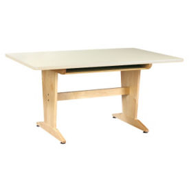 "Art Planning Table with Maple Top and Book Box 26""H, T11335"
