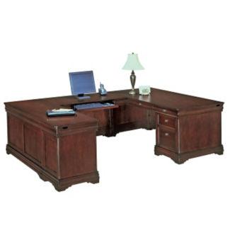 Executive U Desk with Left Bridge, L40395