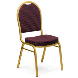 Fabric Stack Chair with Dome Back, C67850