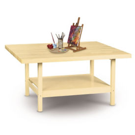 "Two Person Maple Workbench - 28"" x 64"", T11788"