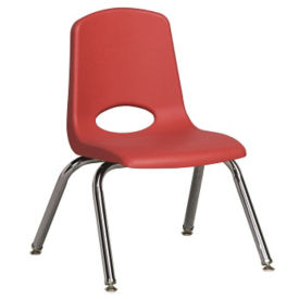 "Stack Chair with Nylon Swivel Glides 10""H Seat, C70385"