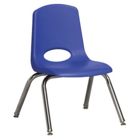 "Stack Chair with Nylon Swivel Glides 12""H Seat, C70386"