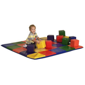 Patchwork Toddler Soft Mat and Blocks, P40029