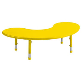 Resin Activity Table Kidney Shaped, T11671
