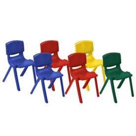 "Box of 6 Resin Chairs 12""H, C70468"