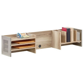 "At Work Desk Organizer Hutch 72""W in Warm Ash, B34750"
