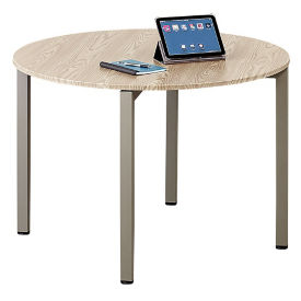 "At Work 42"" Round Conference Table in Warm Ash, C90372"