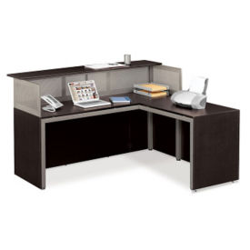 At Work Reception Desk with Right Return, D35197