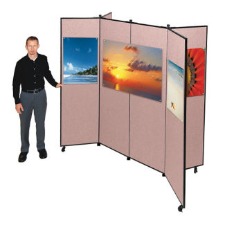 "Six Panel Display Tower - 7'3""W x 5'9""H, F40018"